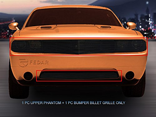 Fedar For 2011-2014 Dodge Challenger Phantom Bolt Over Style Black Billet Grille Grill Comb ()