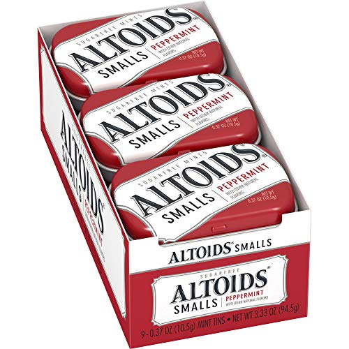 Altoids Smalls Mints, Peppermint, 0.37 Ounce (Pack of 9)