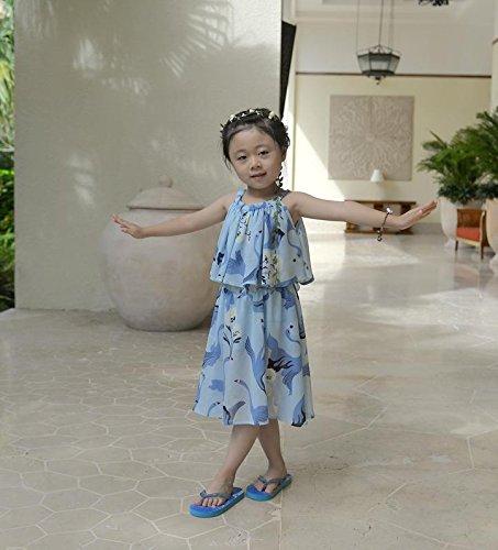 MUMM  &QQ Mère et fille jupe robe robe vacances de plage