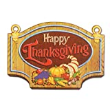 "Beistle 99889 Happy Thanksgiving Sign, 13"" x 18"", 12 Pack"