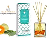 Best Diffuser Sticks - Luxe Home Lime Basil & Mandarin Fragrance Reed Review