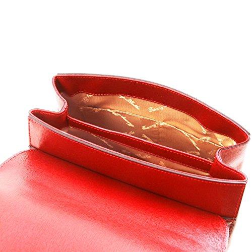 Salida En Italia Footlocker Imágenes En Línea La Venta Tuscany Leather TL Bag Bauletto piccolo in pelle Saffiano Rosso Rosso Lipstick Finishline En Venta Nicekicks Descuento Primera Calidad ZpzA2