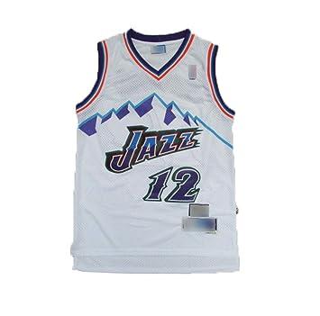 12# John Stockton Utah Jazz atmungsaktiv Vintage Jugend /ärmellose Tops HS-ATI NICE M/änner Basketball Trikots Fans Basketball Westen Uniform,XL:180cm~185cm