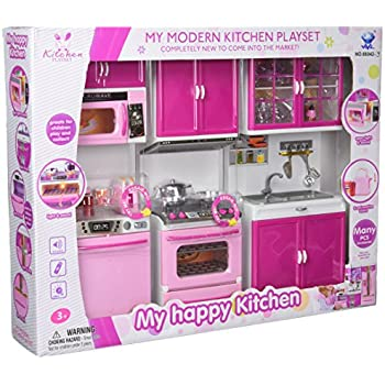 Ordinaire My Happy Kitchen Dishwasher Oven Sink Battery Operated Toy Doll Kitchen  Playset W/ Lights,