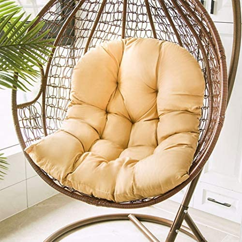Hanging Basket Hanging Egg Chair Cushions,Indoor/Outdoor Swing Chair Cushion,Soft Thicken Comfy Hanging Egg Hammock Chair Seat Pads Back Cushion Pillow,Basket Chair Cushion for Patio Garden