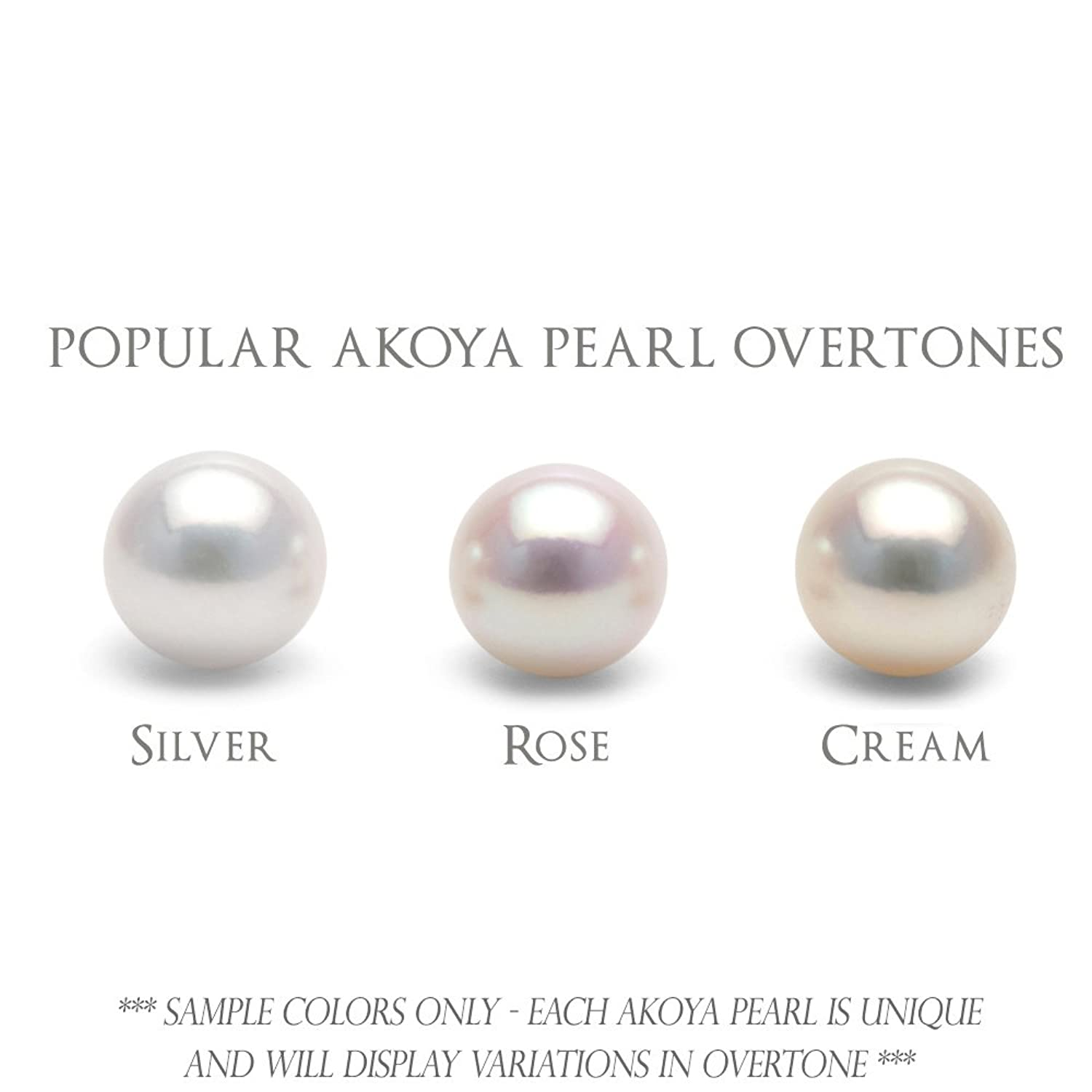 Amazon: Single Cultured White Japanese Saltwater Akoya Loose Pearl,  6065mm, Aaa Quality, Fulldrilled: Loose Gemstones: Jewelry