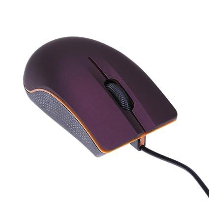 YouN Mini ratón óptico con cable USB 3D para ordenador portátil, color morado