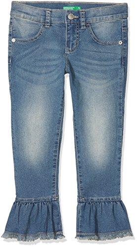 United Colors of Benetton Trousers, Pantalones para Niñas Azul (Light Blue 901)