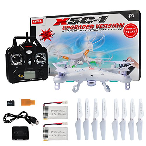 SYMA X5C-1 RC Quadcopter With Extra 4...