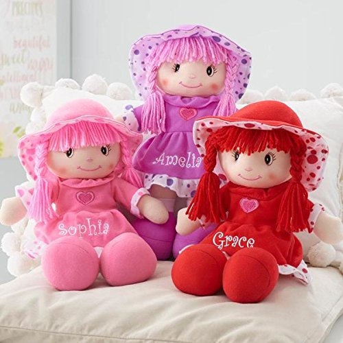Personalized Sweetheart Cuddle Doll - 14 Inch (Pink) -