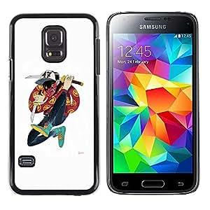 """For Samsung Galaxy S5 Mini ( NOT for regular S5 ) Case , Samurai Cartoon Music Hip Hop Amigo"""" - Diseño Patrón Teléfono Caso Cubierta Case Bumper Duro Protección Case Cover Funda"""