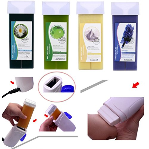 hunpta depilatory Wax Cartridge, Roll On Hot depilatory Wax Cartridge Heater Waxing Hair Removal Remove Yellow