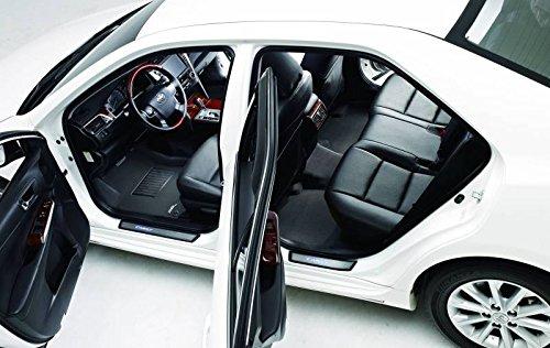 3d Maxpider 2013 – 2016 Toyota Avalon kaguカーボンファイバーエンボスパターン1st 2 nd行行フロアマットブラックl1ty13001509 B01N4RT9WD