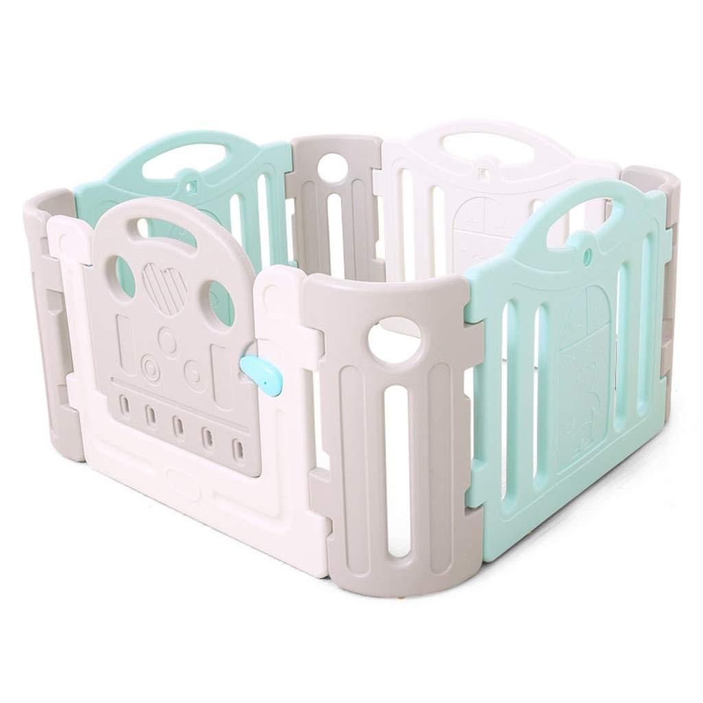 最高の品質 ベビーと子供のためのベビーサークルの安全柵アクティビティセンター - - 多色8パネル(3パネル1ゲートプラス4コーナー)セットプレイヤード - パネル付き大型屋内 -/屋外プラスチックプレイペン B07QR4K5DB B07QR4K5DB, カクタスコガ:a65c7b20 --- a0267596.xsph.ru