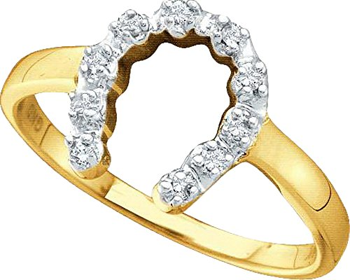 1/20 Total Carat Weight DIAMOND LADIES HORSE SHOE RING by Jawa Fashion