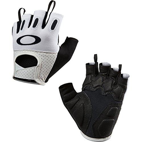 Oakley Factory Road 2.0 Short Finger Mens BMX Gloves - White/X-Large