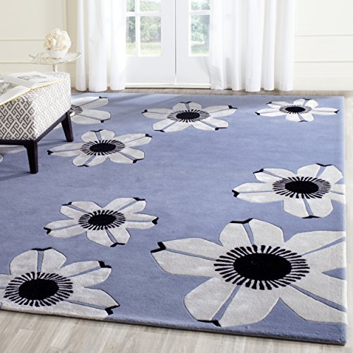 Safavieh Allure Collection ALR123A Handmade Blue Premium Wool Area Rug (8' x 10')