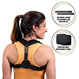 Posture Corrector for Women Men - + Extension Strap - Comfortable Adjustable Back Support Brace - Neck Shoulder Back Pain Relief - Clavicle Brace - Naturally Improving Spine Alignment by Solid Posture