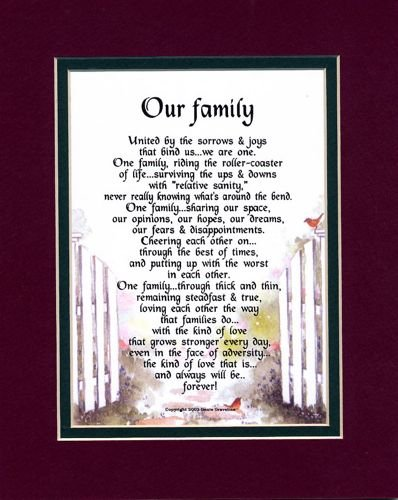 Amazon A Poem About Family 205 Mothers Day Or Birthday