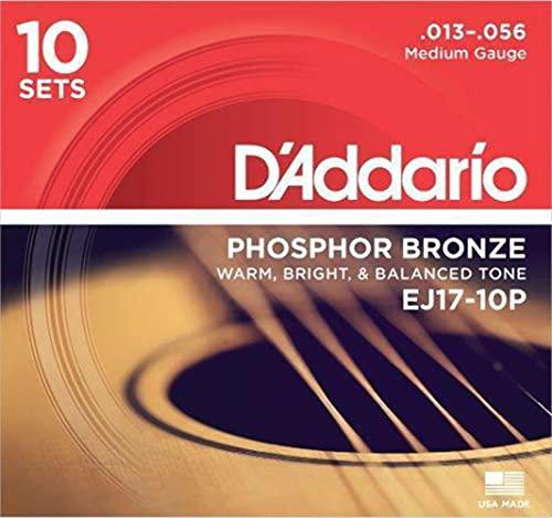 DAddario EJ17-10P Cuerdas acústicas medianas de bronce fósf