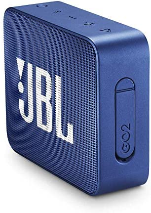 JBL GO 2 - Mini Enceinte Bluetooth portable - Étanche pour piscine & plage IPX7 - Autonomie 5hrs - Qualité audio JBL - Bleu