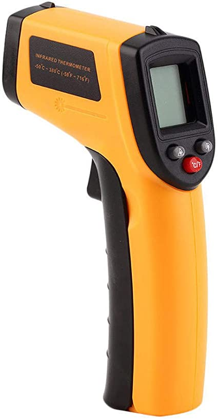 JSPOYOU Portable Non-Contact LCD IR Laser Infrared Digital Temperature Thermometer Gu