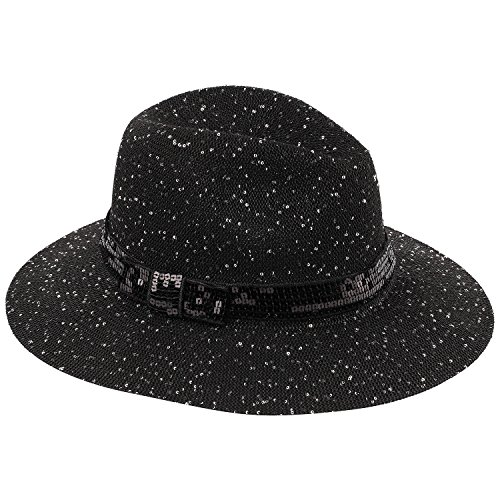 Sears Womens Hats - AccessHeadwear Old Stone Marta Ladies Fedora Style Hat, Black