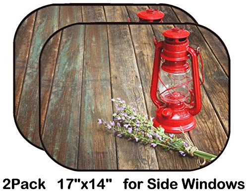 Liili Car Sun Shade for Side Rear Window Blocks UV Ray Sunlight Heat - Protect Baby and Pet - 2 Pack Image ID: 21248421 red Vintage Kerosene lamp and sage Flowers on Wooden Table fine