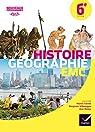 Histoire-Géographie Enseignement Moral et Civique 6e - Manuel de l'élève - Nouveau programme 2016 par Grandpierre