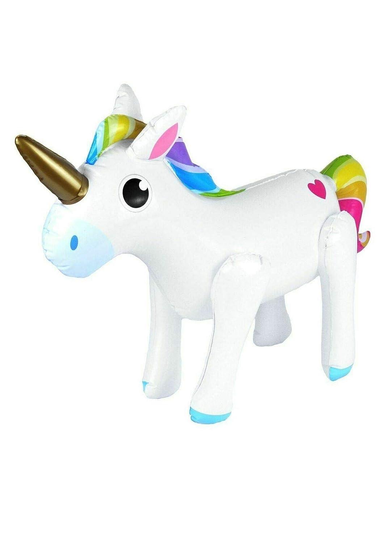 fashioncrazexx Poni inflable de unicornio para fiesta de ...