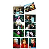 Thinking Gifts Picture Pockets Photo Hanging Display, 22 photos in 11 pockets, Medium, Clear, 1 unit (PPMD )