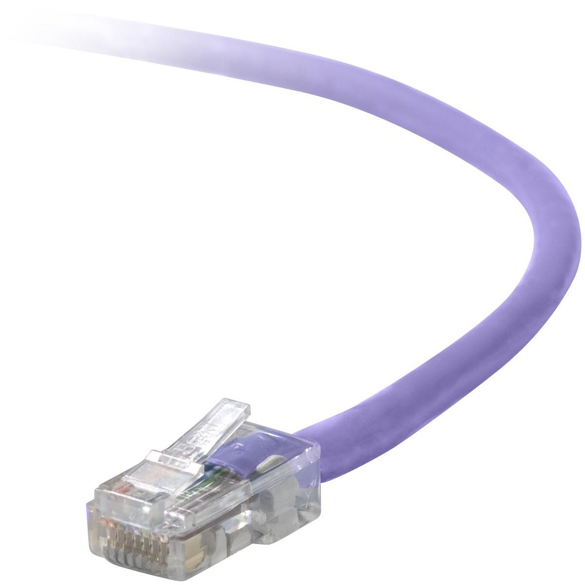 BELKIN cat5e 10ft purple rj45m//m patch cable w//snagless boot A3L791-10-PUR-S