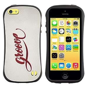 "Pulsar iFace Series Tpu silicona Carcasa Funda Case para Apple iPhone 5C , Groove Cita Slogan Sign Estilo Insignia Vida"""