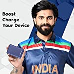 Ambrane 10000 mAh Compact Power Bank with Fast Charging, Sleek Design, Dual Output, Type C Input, Li-Polymer, Made in…