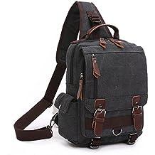 BAOSHA XB-14 Canvas Men Sling Backpack Bag Cross Body Bag Messenger Shoulder Bag Travel Chest Bag