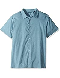 Men's Big and Tall Short Sleeve Striped Wave Shirt
