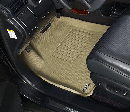 Kagu Rubber 3D MAXpider Front Row Custom Fit All-Weather Floor Mat for Select Chrylser 200 Sedan Models L1CY00211502 Tan