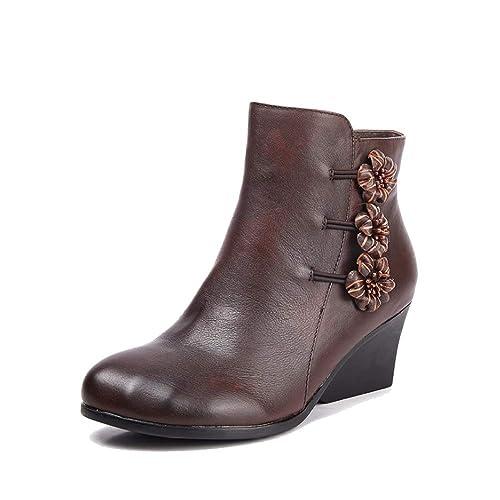 ZPEDY Zapatos De Mujer, Botas Martin, Botines, Vintage, Zapatos De Cuña,