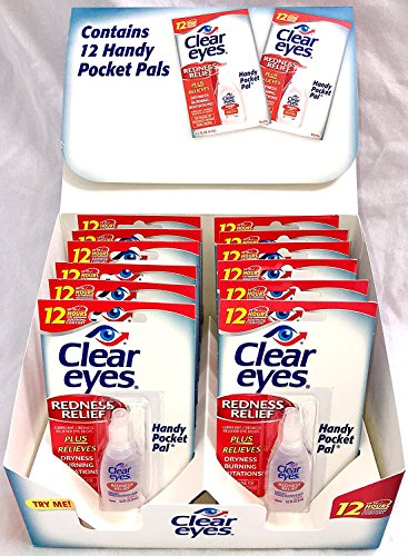 Sterile Eyes Redness Relief Clear (Clear Eyes Redness Relief Eye Drops Handy Pocket Pal 0.20 oz (12 pack))