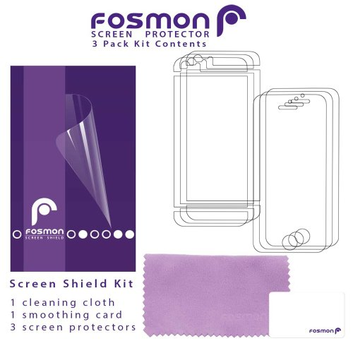 Fosmon Screen Protector for iPhone 5 / 5c / 5s / SE - (Front + Back) - Clear - 3 Pack
