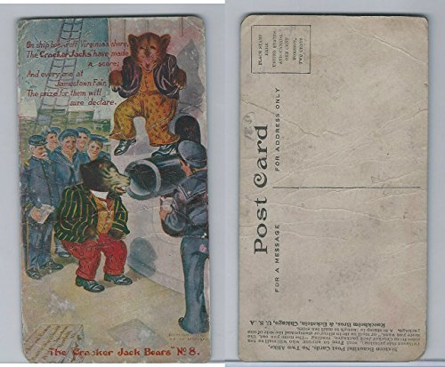 E147 Cracker Jack Bears, 1907, 8 Ship Off Virginia Shore