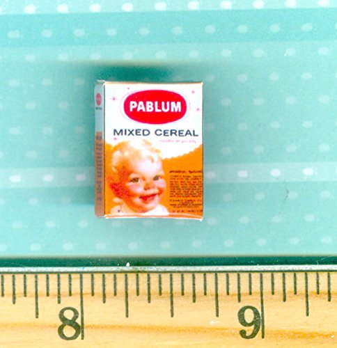 Dollhouse MINIATURE size Vintage Pablum Baby Cereal Mixed Box - My Mini Fairy Garden Dollhouse Accessories for Outdoor or House Decor ()