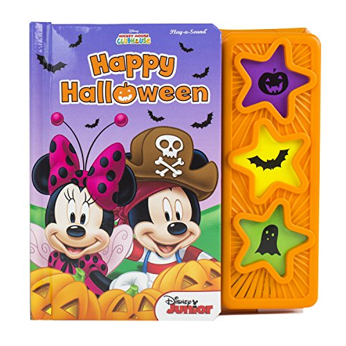 Mickey Mouse Clubhouse (Disney® ) Happy Halloween 3 Star Sound Button 5 Spread Padded Board Book Phoenix International Publications 9781450831390 ()