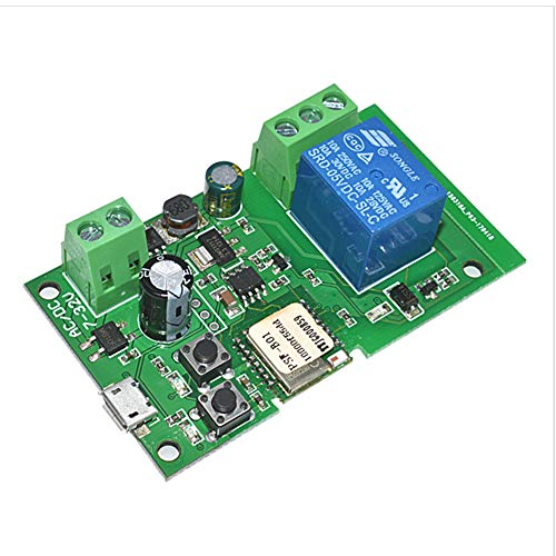Anmbest 1 Channel DC5V 12v 24v 32v WiFi Inching Self-Locking Relay Delay Switch Module Smart Home Remote Control Compatible with Alexa Echo Google Home Nest IFTTT SONOFF iOS Andriod 2G/3G/4G Network