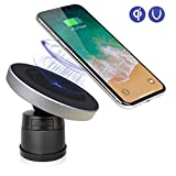 Qinoren Magnetic Wireless Car Charger Air Vent Phone Holder,Wireless Charging for Samsung S9/S9+/S8/S8+/S7/S7 Edge Note 8、Apple iPhone X/8/8 Plus and All QI-Enabled Devices(No Car Charger)