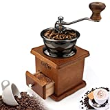Coffee Mill Grinder - Manual Coffee Grinder with Adjustable Gear Setting and Ceramic Conical Burr,Hand Mill Grinder for Home Use and Travel
