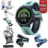 Garmin Forerunner 735XT GPS Running Watch Tri-Bundle - Midnight Blue (010-01614-04) + 7 Pieces Fitness Kit + 1 Year Extended Warranty
