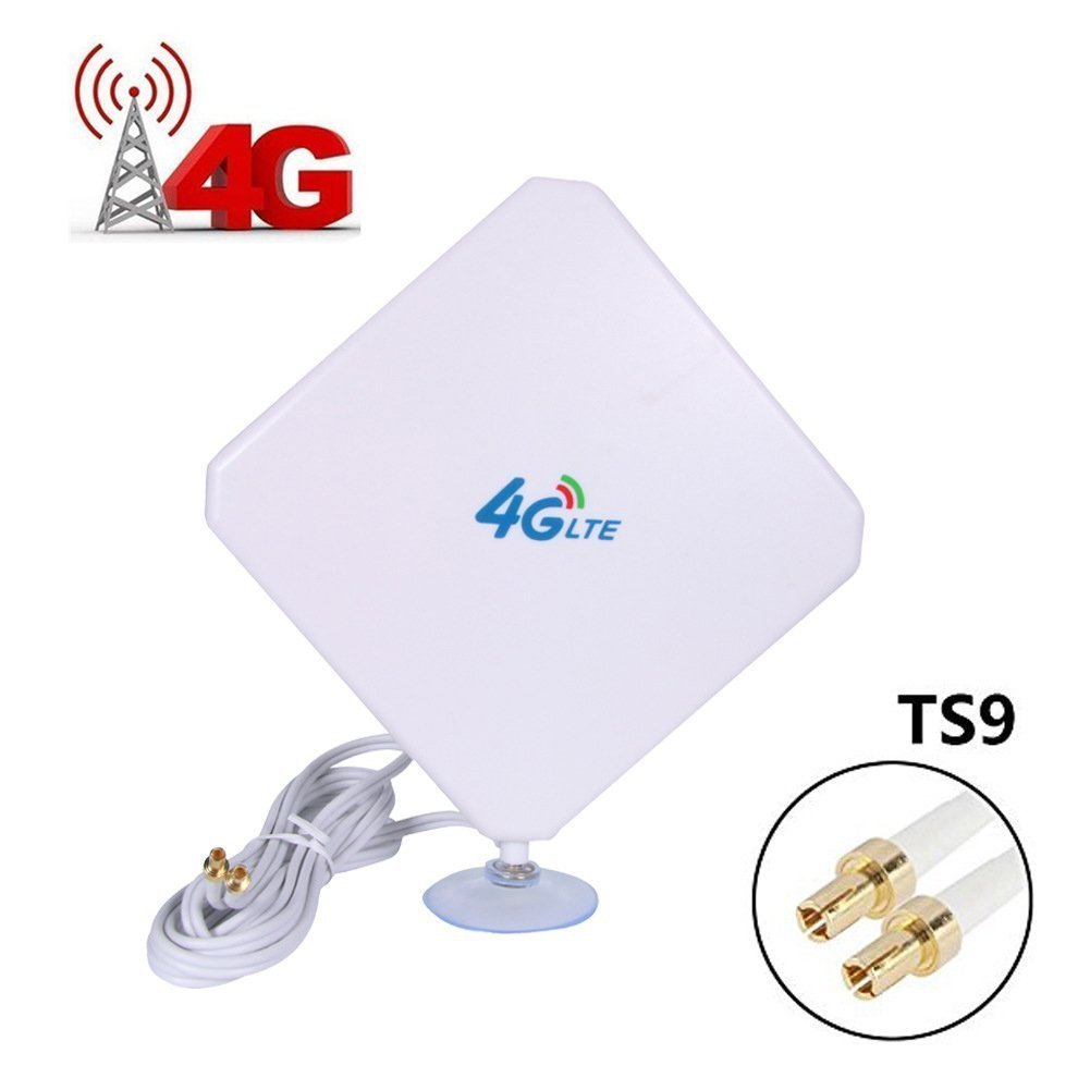 AMAKE 4G LTE Antenna TS9 Connector Dual Mimo Outdoor Signal Booster Amplifier Receiver 35dbi High Gain Long Range Network Ethernet for Wifi Router Mobile Broadband(TS9)