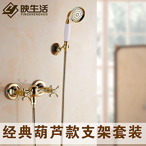 Classic a Lu, Bracket Kit Hlluya Professional Sink Mixer Tap Kitchen Faucet The copper gold Bath Faucet shower set faucets Double Handle faucet with the water, the Tsing Hua Lu, Bracket Kit