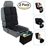 Car Seat Protector with Trash Can - Waterproof Car Seat Pad and Collapsible Trash Bin - Adjustable Auto Seat Protector Under Car Seat Designed to Fit All Vehicles + Bonus Trash Liners (2 Pack)